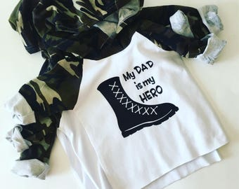 Baby Clothes, Camo Graphic Army Hooded Tshirt, Baby Boy Clothes, Baby Boy