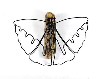 Butterfly Wire Sculpture, Minimal Wire Art, Wire Wall Piece, Wire Tabletop Sculpture