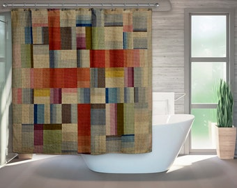 Amazing Shower Curtain, Mid Century Modern, Retro Bath, Modern Bath, Bauhaus, Retro