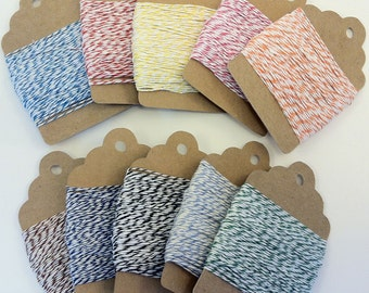 Baker's Twine Lot -- 250 Total Yards In 10 Colors -- 25 Yards Each Color
