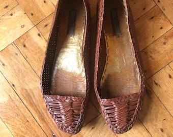 Prada Leather Flats Size 7
