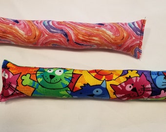 Set of 2 Kitty Sticks with Catnip Lg Multi Colored Cats and Pinks and Blue Marble Swirl