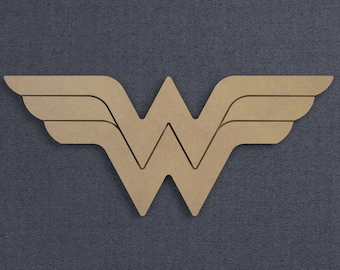 Wonder Woman Logo With Finishing Grooves