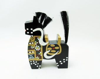Yawatauma/horse.Vintage Wood Carving.Japanese Folk Art.1970s. #fa55