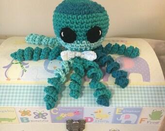 Baby octopus toy, preemie octopus toy, newborn octopus toy, octopus preemie toy, crochet octopus toy