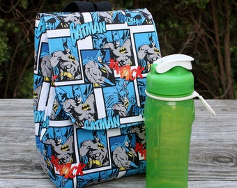 Insulated Lunch Bag Lunch Tote Batman The Dark Knight Made To Order