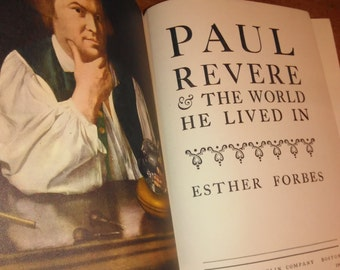 1942 First Edition Esther Forbes Paul Revere and the World He Lived In Vintage Book