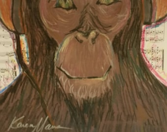 monkey drawing collage