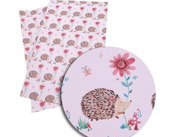 Hedgehog Faux Leather Sheet