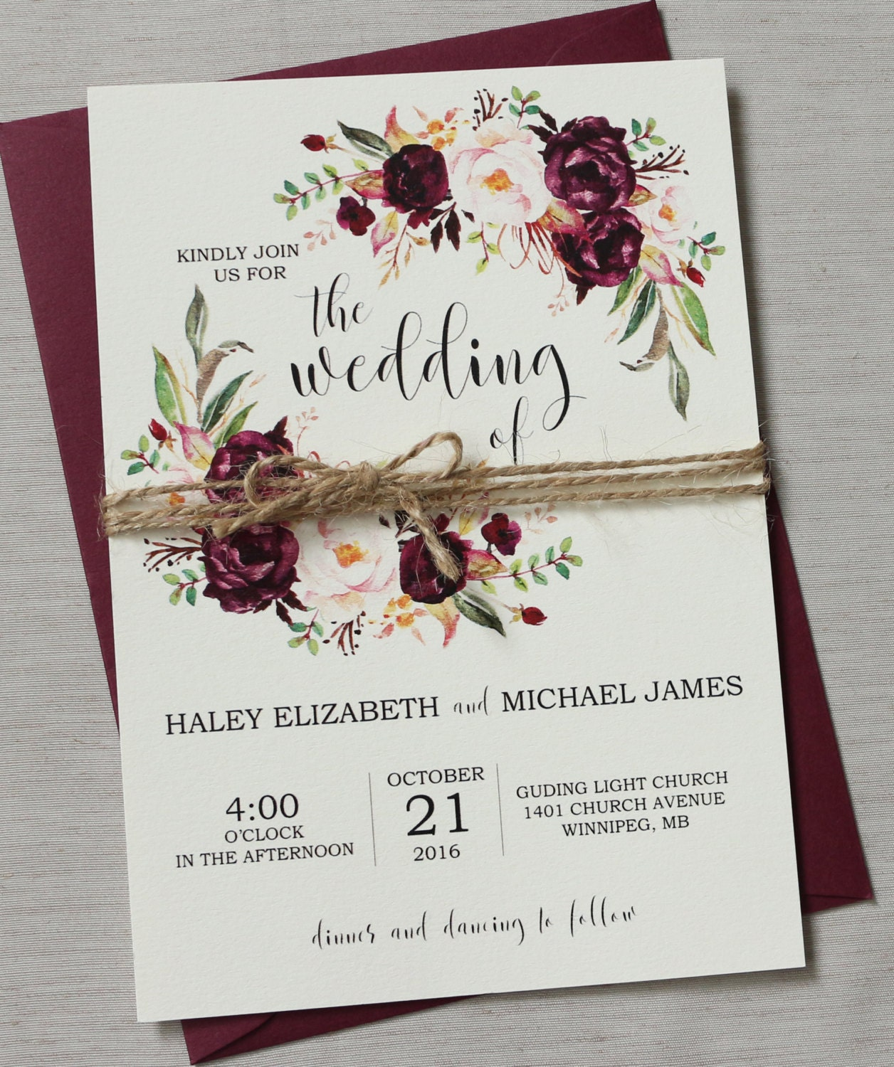 burgundy wedding invitations - Wedding Decor Ideas
