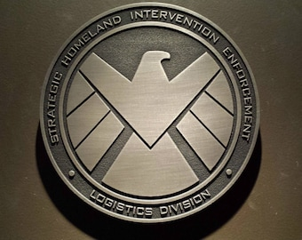 Marvels Agents of SHIELD comic inspired plaque Strategic Homeland Intervention Enforcement Logistics Division