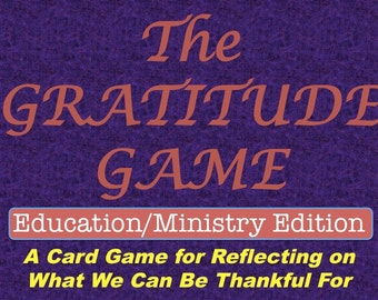 Gratitude Game, Education and Ministry Edition, Printable Card Game, Thanksgiving Game, Large Group Activity