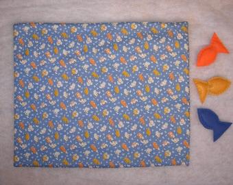 Pet, cat, kitty, handmade easy care blanket, bedding, carrier liner, one of kind, soft, toys, organic catnip filled, gift.