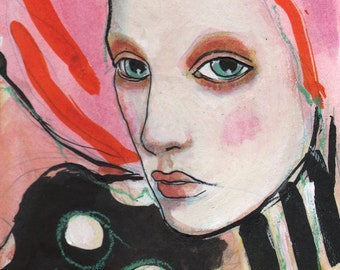 Turning Japanese-ACEO  Open edition reproduction by Maria Pace-Wynters