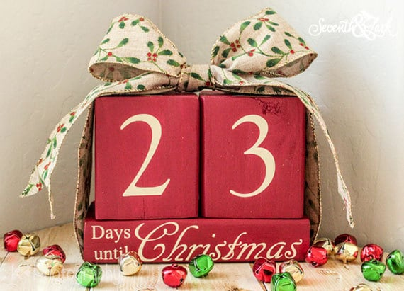 items similar to countdown until christmas blocks wood christmas blocks countdown until christmas christmas decor xmas christmas countdown on - Countdown Till Christmas Decoration