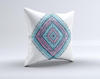 The Aztec Diamond ink-Fuzed Decorative Throw Pillow