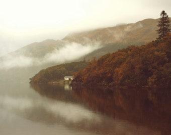 Morning By The Loch, original fine art photography, print, highland, landscape, nature, 8x12,  mountain, autumn, scotland, lake, loch, water