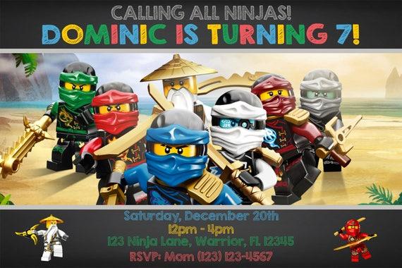 Ninjago invitation ninjago birthday invitation ninjago stopboris Images