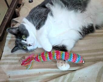 Kicker Cat Toys, Soft Cat Toys, Knit Cat Toys, Handmade Cat Toys, Kitten Toys, Fun Cat Toys, Stuffed Cat Toys, Bell Cat Toys