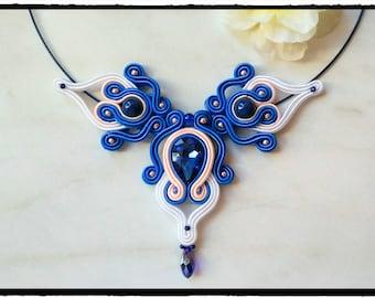 """Soutache necklace """"Bluefina"""""""