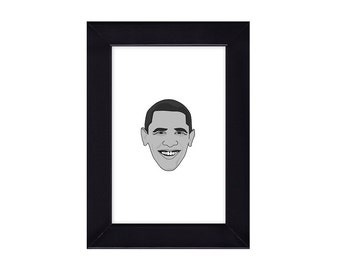4 x 6 Framed Barack Hussein Obama / President of the United States Portrait