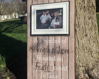 Symbol of Strength & Love ~ Family Photo Frame ~ Established Frame~ Founded on Faith ~ Kept By Love