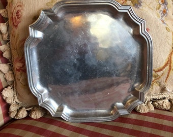 French Country Provence octagon Wilton Pewter Plate