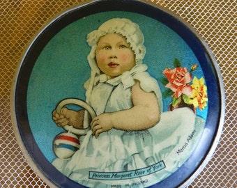 1931 Powder Compact, England, antique powder compact, Princess Margaret Rose of York, ca. 1931