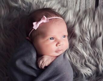 Small bow headband, pink bow headband, YOU CHOOSE COLOR, newborn baby hair bow, newborn girl bow, baby bow, newborn hair bow, tiny hair bow