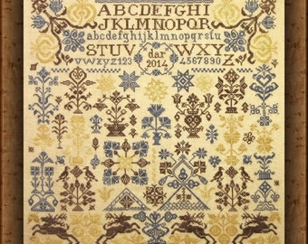 "Posies TWO - a companion to ""Panoply of Posies -quaker antique  / design / needlework / embroidery pdf / cross stitch  / counted thread"