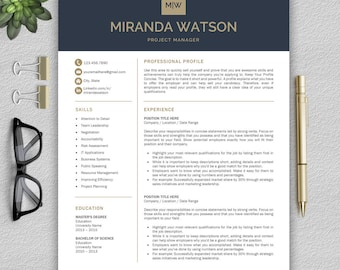 professional resume template resume template for word cv template cover letter references - Modern Resumes