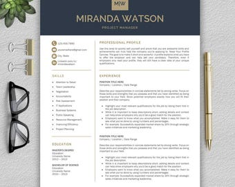 Professional Resume Template | Resume Template For Word | CV Template +  Cover Letter U0026 References