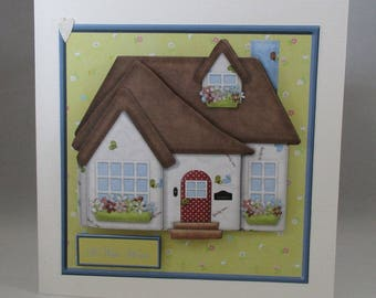 New Home Greeting Card, Handmade ,3D, Personalise
