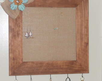 Rustic Frame Jewelry Holder 12x12