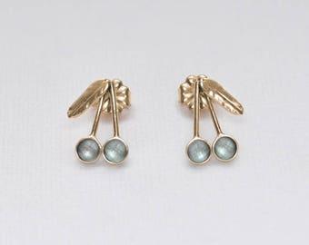 Gold Stud Earrings, 3mm Topaz stud earrings, Topaz post earring, Cartilage earring, 20 gauge helix earring stud, Cartilage piercing
