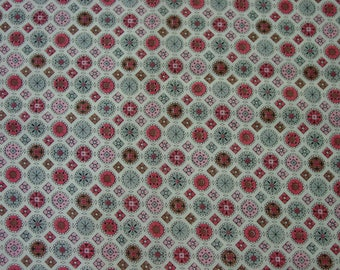 "Vintage Cotton Fabric Cute Print 2 Pieces 1 1/2 Yards Each, 35"" Wide"