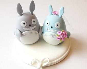 Cute Totoro wedding cake topper
