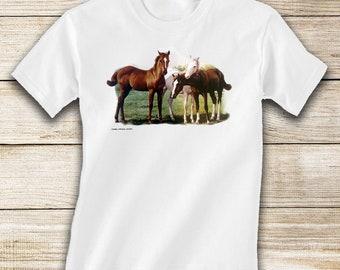 Three Foals Toddler Horse T-Shirt - Short or Long Sleeve