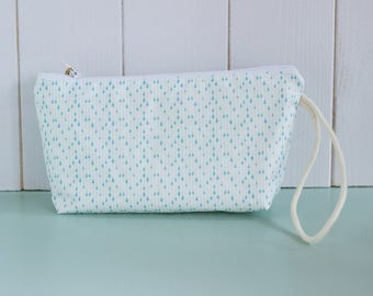 LUC-waxed cotton clutch bag