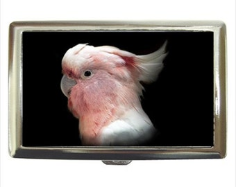 Leadbeater's Cockatoo Parrot Bird Money Cigarette Case Chrome Holder Wallet