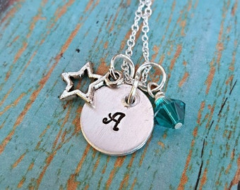 Star Charm Necklace - Star Necklace - Initial Necklace - Personalized Necklace - Charm Necklace - Star Charm - Gift for Girl - Girls Jewelry