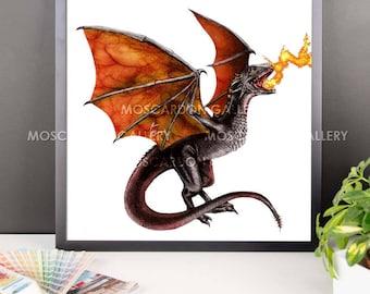 Drogon (Game of Thrones) Framed Art
