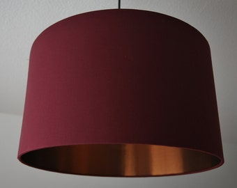"Lampshade ""Burgundy-Copper"""