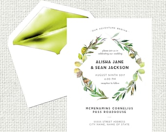 Wedding Invitation / Wedding Invites / Wedding Invitations / Rustic Wedding / Instant Download / Digital Download / Custom / Personalized