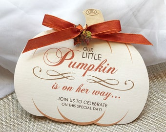Our Little Pumpkin Invitation, Fall Baby Shower Invitation, Autumn Shower Invitations, Pumpkin Baby Shower Invite, Rustic Baby Shower Invite