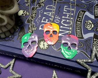 Rainbow Skull - Necklace