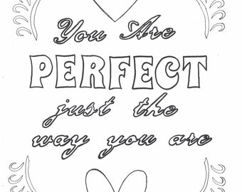 You are more than enough coloring page