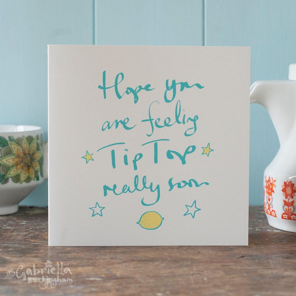 Get well soon card tip top lemon feel better soon hope zoom kristyandbryce Gallery