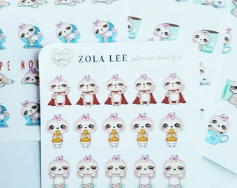 MISCELLANEOUS SLOTH Planner Stickers for Erin Condren, Happy Planner, Kikki K., Personal Planner and More