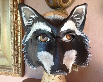Raccoon mask, Trash Panda mask, animal mask, leather mask by Faerywhere masks